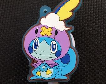Silicone kawaii alligator manga anime badge reel