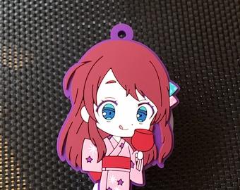 Silicone super kawaii manga anime girl nurse badge reel
