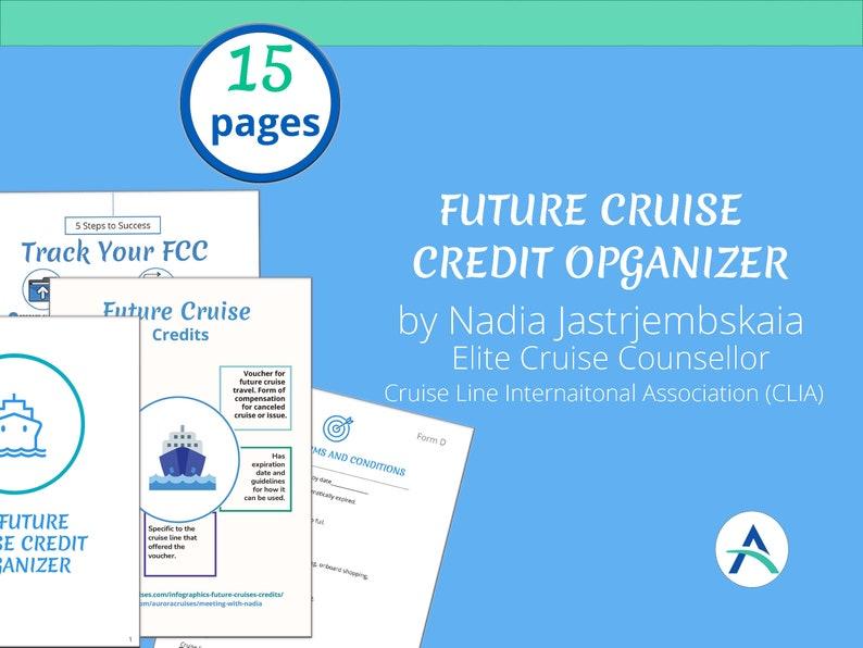 Future Cruise Certificate FCC Organizer printable binder for image 1