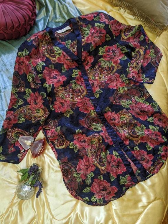 1990s Floral Victoria's Secret Housecoat
