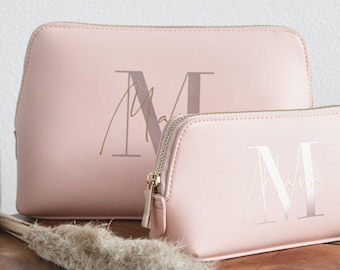 Personalized cosmetic bag with name   personalized culture bag   Make-up bag   Gift   Birthday Gift Mom