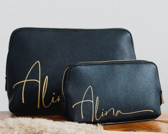 Personalized cosmetic bag with name   personalized toilet bag   Make-up bag