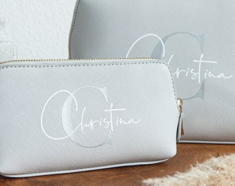 Personalized cosmetic bag with name | personalized toilet bag | Make-up bag | Gift