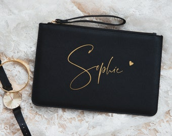 Personalized Clutch   Gift Girlfriend   Handbag with name   Evening Bag   Pouch