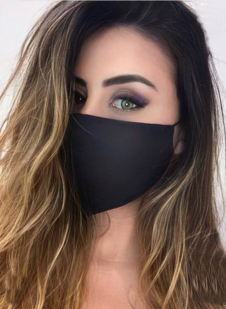 5 Adult Unisex 3 Ply Soft USA Made Mask with Filter Pocket. image 0