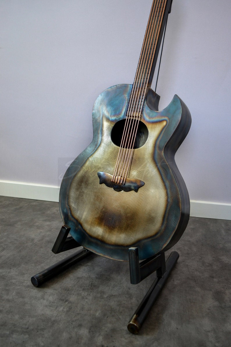 Metal Guitar Lamp Stand Loft Floor Lamps Home Design image 1