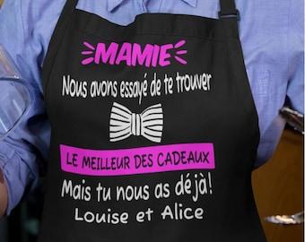 Id/éal comme cadeau original ! Mamie Maman Maitresse Tata Atsem Avs Tablier de cuisine personnalisable Pour Marraine