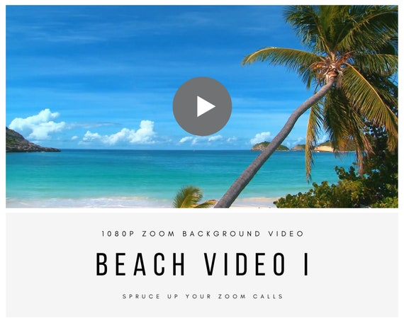 Zoom Beach Video Background I – High-Quality Virtual Background for Online Zoom Meetings
