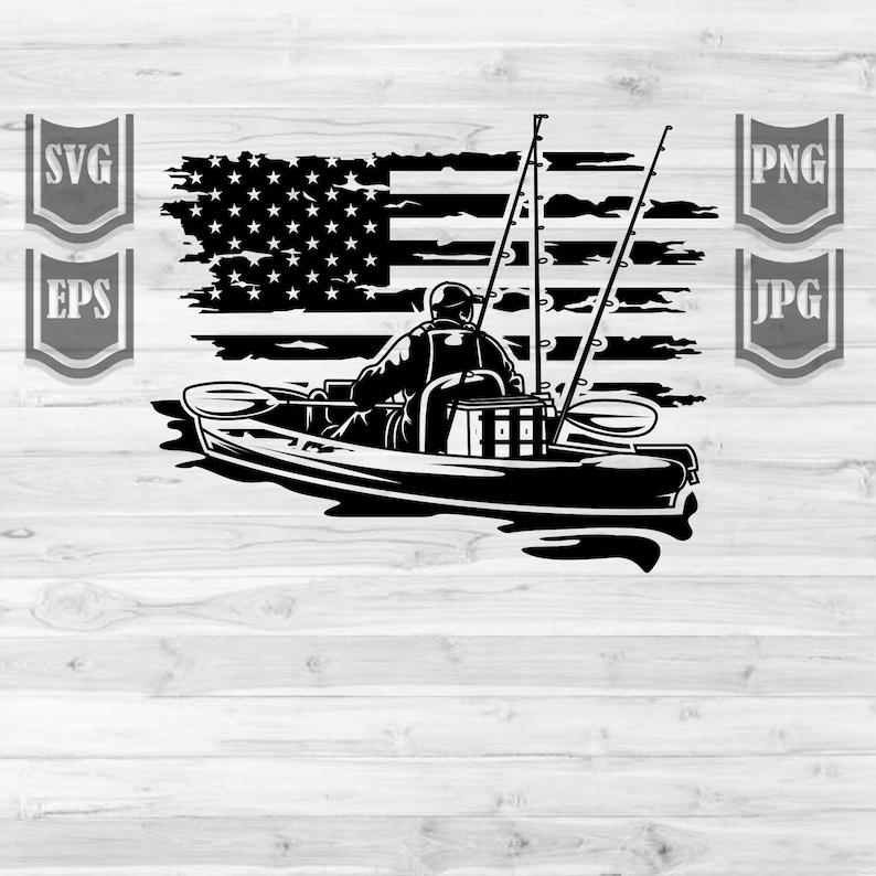 Download US Kayak Fishing Svg File Kayaking Svg Fishing svg   Etsy