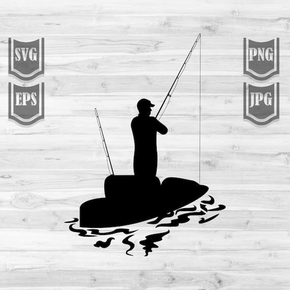Download Kayak Fishing Clipart Svg File Fishing Svg Fishing Etsy