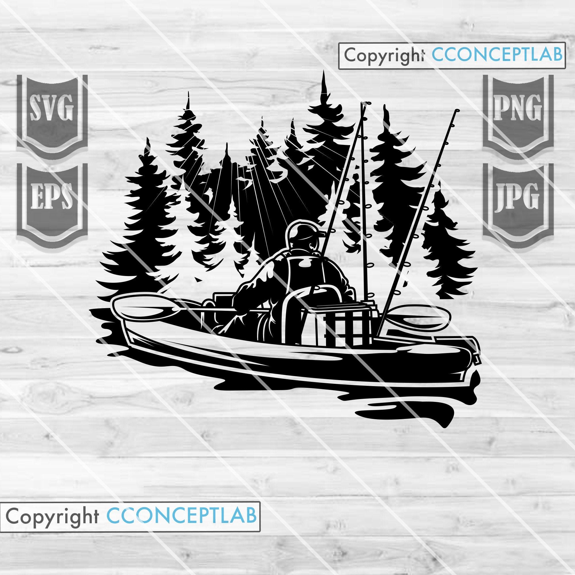 Download Kayak Fishing Svg File