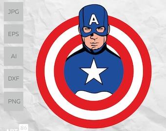 captain america logo etsy captain america logo etsy