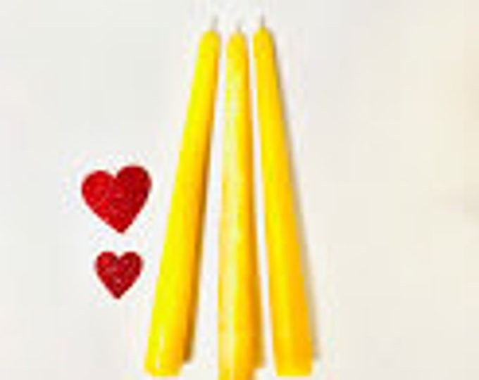 "8"" Beeswax Taper Candles (pair)"