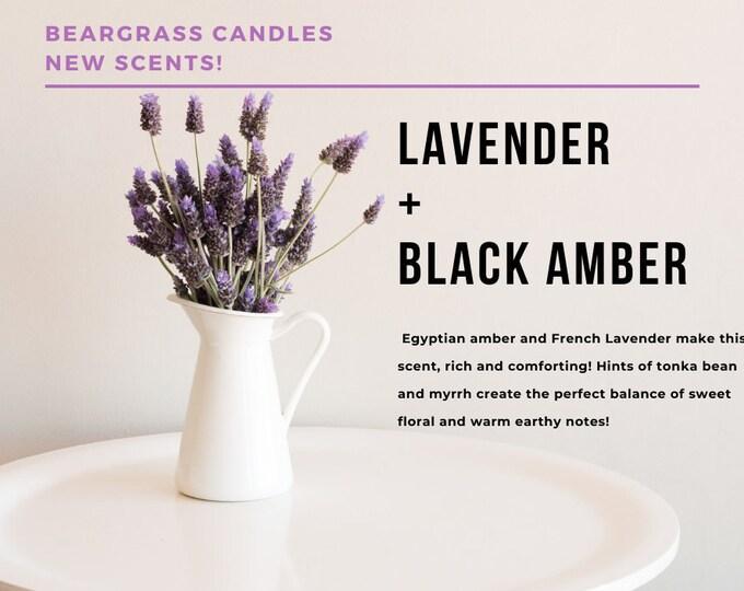 9oz Lavender + Black Amber