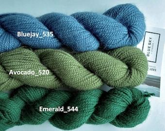 Baby Alpaca Sport, by Blue Sky Fibers, 100% alpaca yarn, sport weight, 110 yds/50g