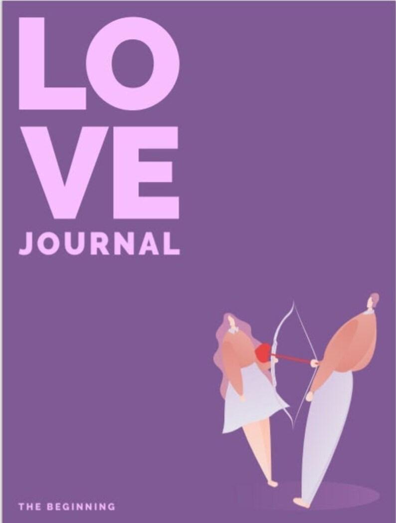 Dating Journal Love Journal Digital PDF image 0