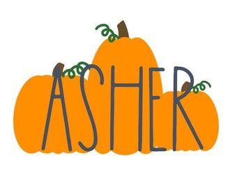 12 Stickers - Fall, Pumpkin Name Labels, Halloween - Matte or Glossy Finish - Waterbottles, Lunch Box, Pen, Folder, Binder - 2 inches