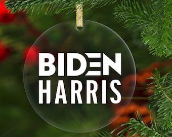 2020 Sucked until Biden Harris won the Election Ornament Joe Biden Kamala Harris Clear Acrylic Ornament Christmas Gift