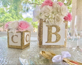 Pink And Gold Baby Shower Table Decorations  from i.etsystatic.com