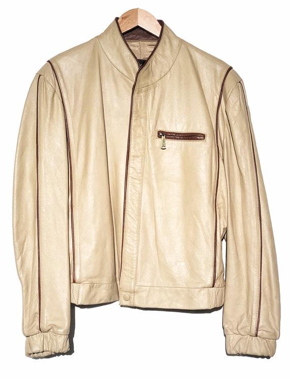 El Charro Vintage Leather Jacket Size 46