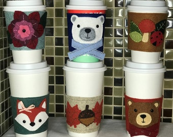 Felt coffee/tea cozy,  reusable and eco friendly for beverages