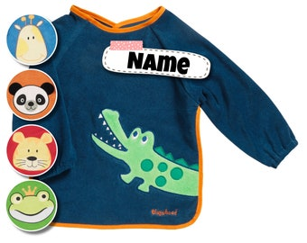 Bibs named | Bibs personalized | embroidered with name | Baby bib | Bib with sleeves | waterproof | Latz | Gift Birth