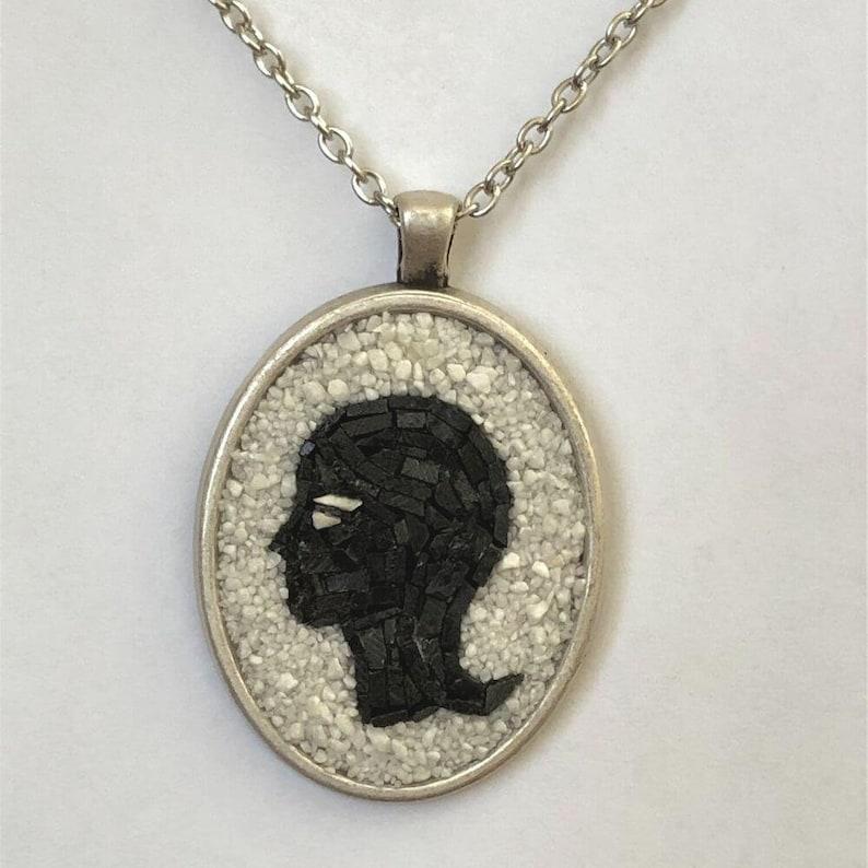 Virgo Zodiac Micro Mosaic Necklace