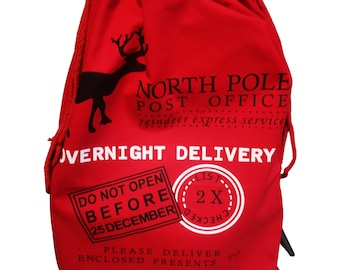 Extra Large Personalised Santa Sacks Canvas Bags with Red Drawstring Extra Large 39.4 X 27.6 For Xmas Stockings Stuffers Presents Holder /& Party Decorations for Kids Boys Girls.