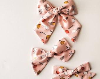 Pink Plaid BabyBow Pastel Pink Plaid Headband SPRING Buffalo Plaid Hair Clip Pink Buffalo Check. PinkBlush White Buffalo Check Bow