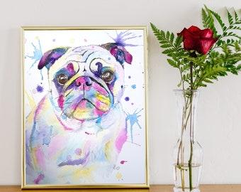 Custom Made Beautiful Watercolour Pet Portraits