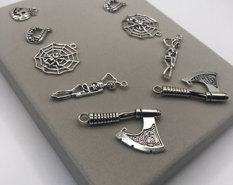 Spooky Halloween Charm For DIY Earrings, Necklace Pendant, Keychain etc  CT 145
