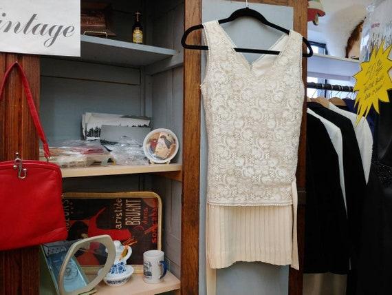 Vintage Joseph Ribkoff Dress Ivory Colored Lace Dr