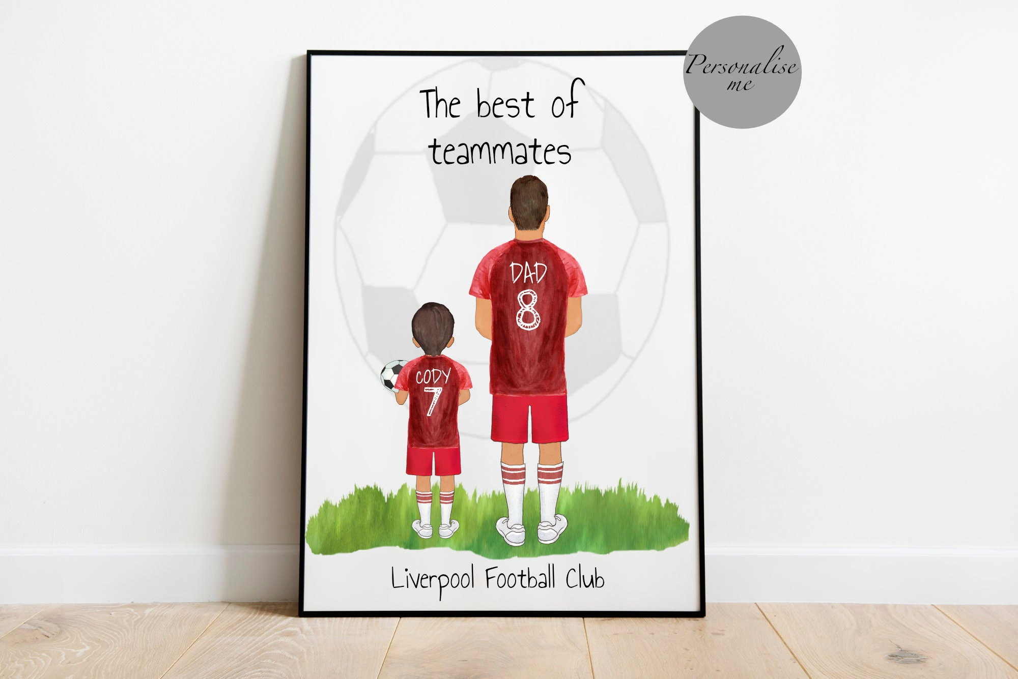 Simply The Best DADDY FATHERS DAY GIFT PRESENT BLANK MDF plaque Football