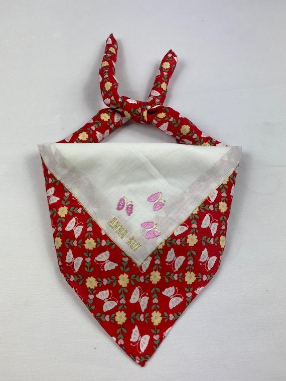 Vintage Anna Sui Bandana Handkerchief Neckerchief… - image 2
