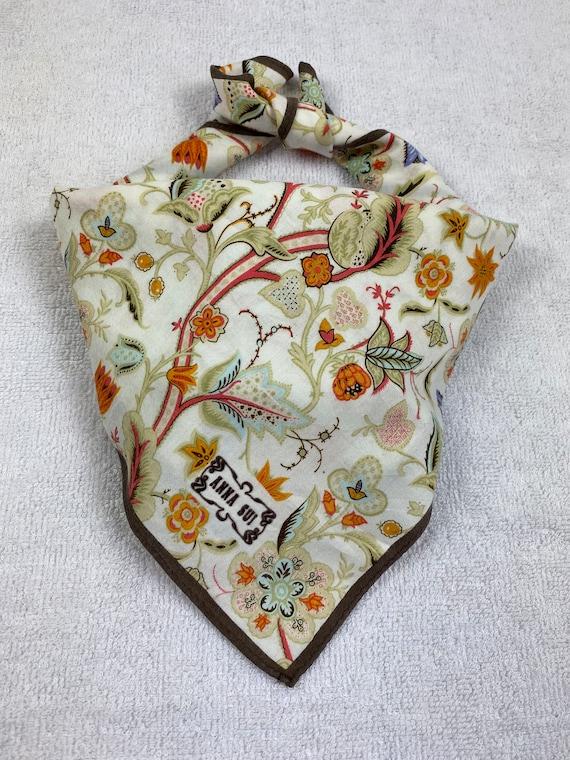 Vintage Anna Sui Bandana Handkerchief Neckerchief… - image 1