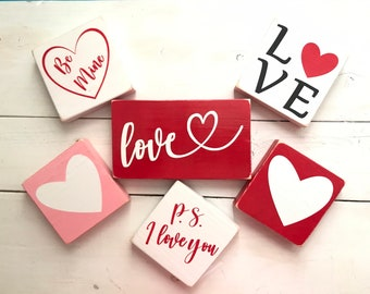 ABC I love you Love Sign Valentines Day Gift Valentines Day Wood Sign Nursery Decor Valentines Day Decor Wedding Decor Baby Gift
