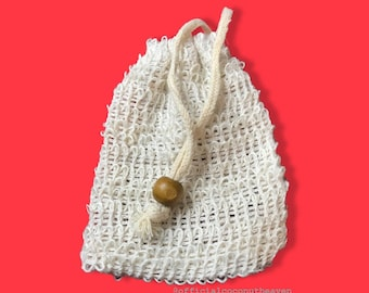 Natural Loofah pouch // Soap saver
