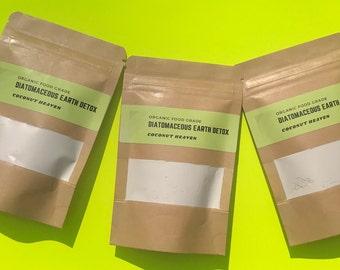 Organic Diatomaceous Earth Detox Powder // A natural detox cleanse // Colon Support // Parasite Cleanse //  Holisitc Healing //