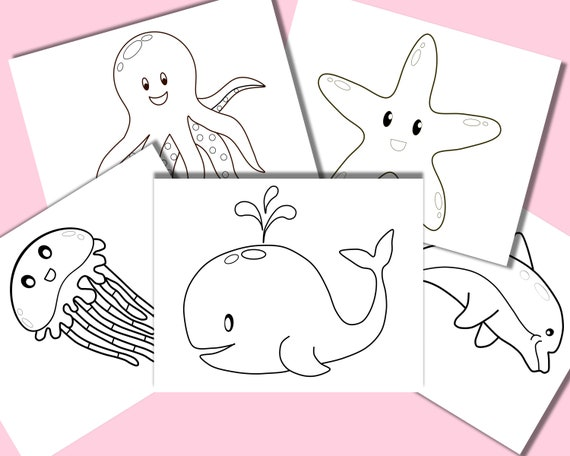 Under the Ocean kids coloring pages Sea creatures coloring