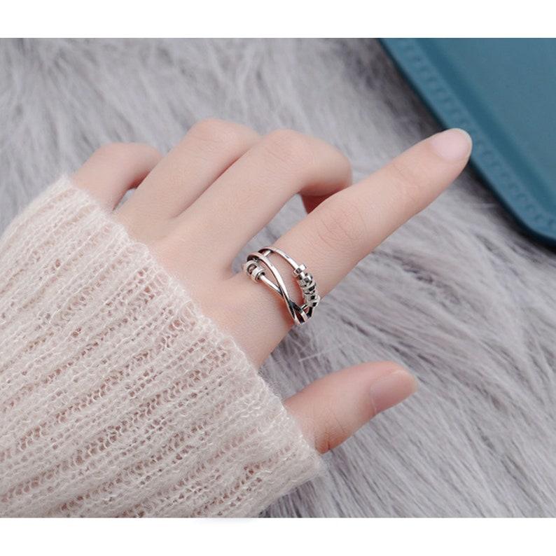 S925 Sterling Silber Frauen drei Ring Zeigefinger Ring | Etsy