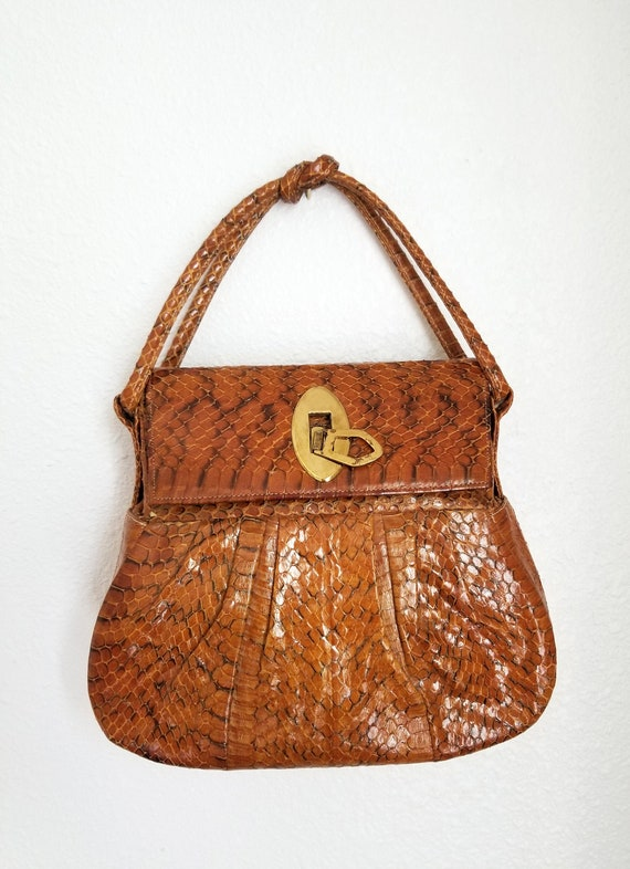 Vintage Snakeskin 1940's Handbag