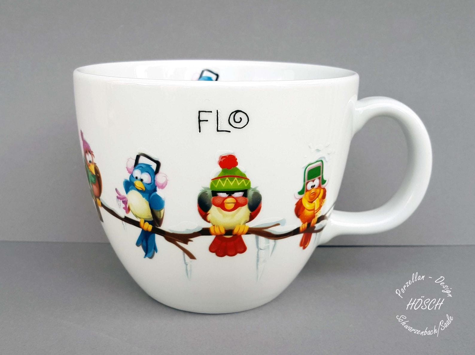 xxl becher 1 liter lustige vögel weihnachten