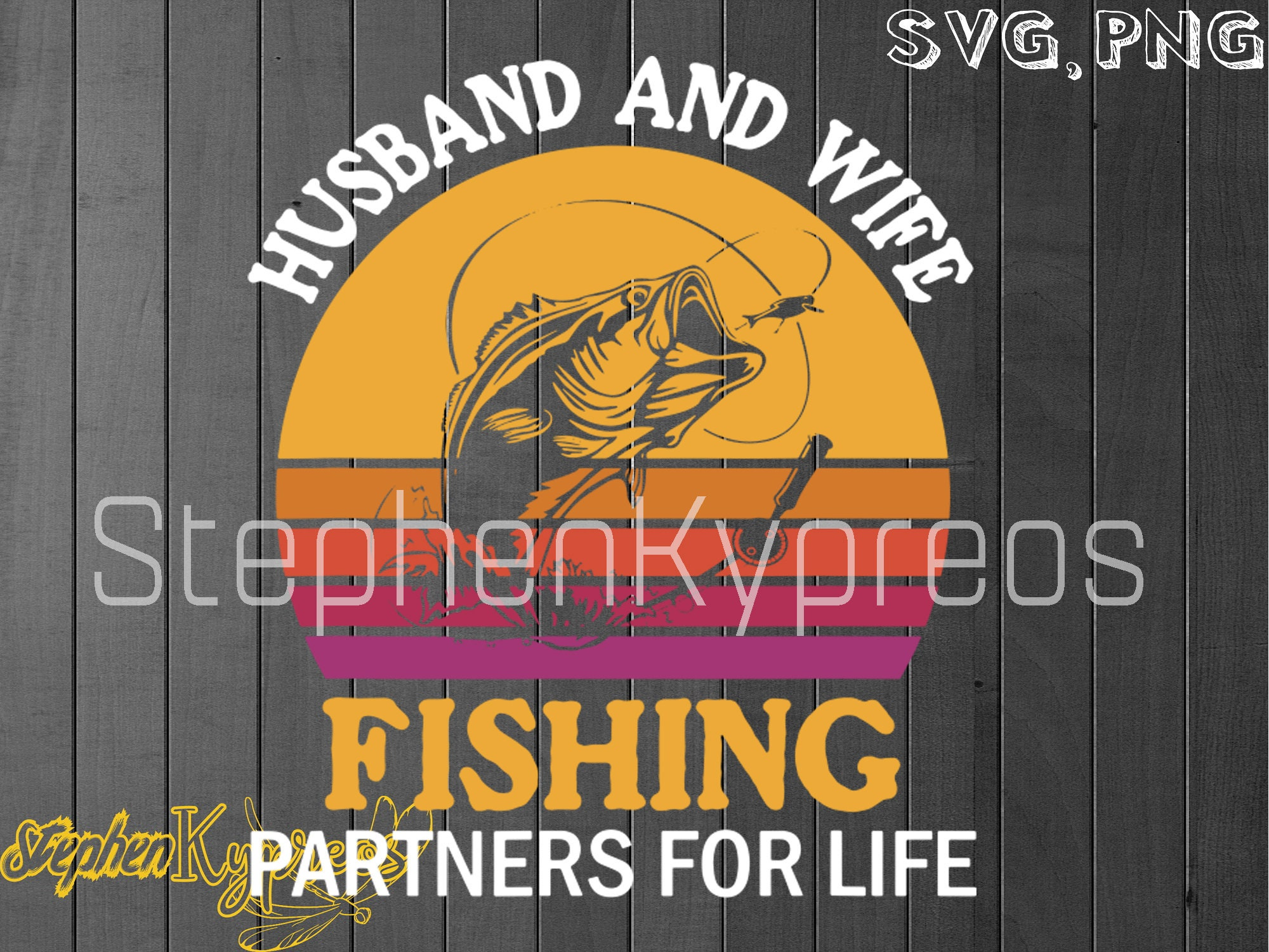 Download Husband And Wife Fishing Partners For Life Design Svg Png Etsy