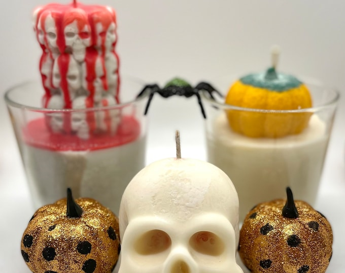 Halloween inspired soy wax candles
