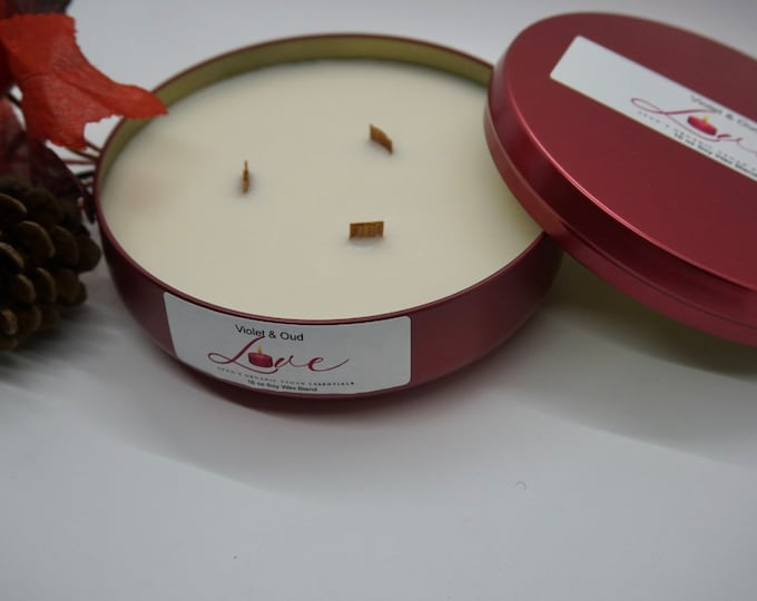 Violet & Oud Soy Wax Candle