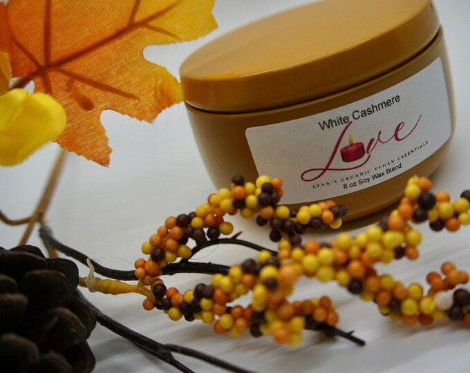 White Cashmere Soy Wax Candle
