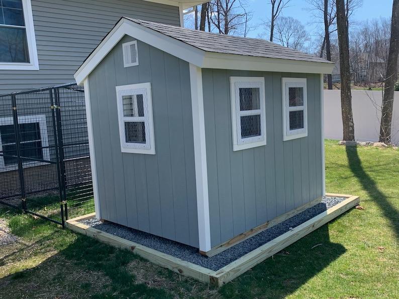 Chicken Coop Plans PDF Easy 6x8 DIY Chicken Coop Backyard ...