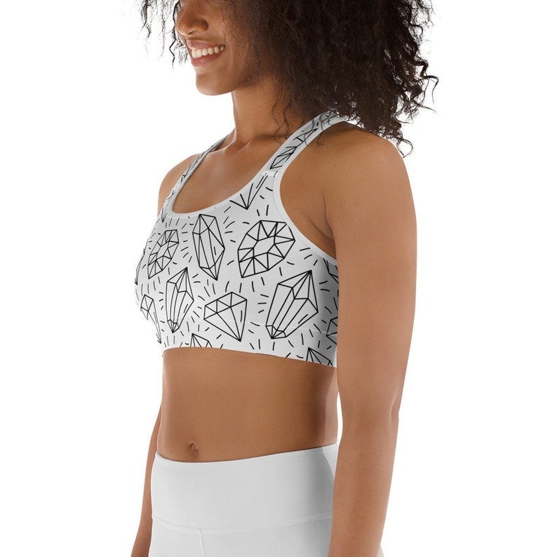 Crystal Print Sports Bra Athletic Outfit