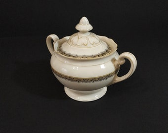 HUTSCHENREUTHER. ANTIQUE Porcelain Sugar Bowl. Germany 1939-1945