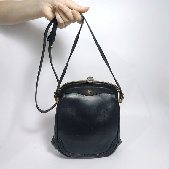 ETIENNE AIGNER Black Pig Leather and Calf Leather